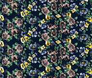 Blumenmuster raport Lizenzfreies Stockfoto