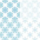 Blumenmuster Satz hellblaue Elemente auf Weiß Nahtlose Hintergründe Stockfoto