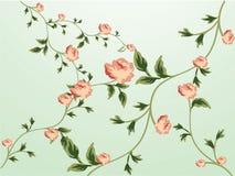 Blumenmuster-Tapete stock abbildung