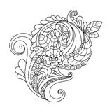 Blumenmuster Zentangle Lizenzfreies Stockfoto
