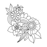 Blumenmuster Zentangle Stockbilder