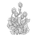 Blumenmuster Zentangle lizenzfreie abbildung