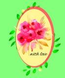 Blumenmusteraquarell Stockfoto