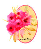 Blumenmusteraquarell Stockbilder