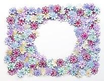Blumenmusterbeschaffenheit und -hintergrund der Stickerei bunte für g Lizenzfreies Stockbild