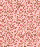 Blumenmusterhintergrund der nahtlosen Weinlese mit rosa netter Flora Lizenzfreie Stockfotografie