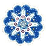 Blumenmustermandala Stockfoto