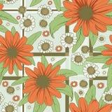 Blumenmusterrot Lizenzfreies Stockfoto