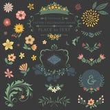 Blumenmustersatz Stockfoto