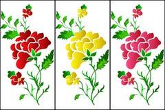 Blumenmustervertikale, rosafarben, Tätowierung Lizenzfreie Stockbilder