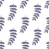 Blumenniederlassung mit dem Blattveilchen gefärbt Lizenzfreie Stockfotografie