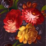 Blumenornamentrahmen in Russe Zhostovo-Art Lizenzfreie Stockfotos