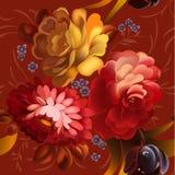 Blumenornamentrahmen in Russe Zhostovo-Art Stockbilder
