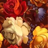 Blumenornamentrahmen in Russe Zhostovo-Art Lizenzfreie Stockbilder