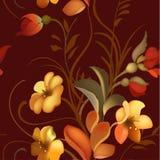 Blumenornamentrahmen in Russe Zhostovo-Art Stockfoto