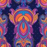 Blumenpaisley-indisches aufwändiges nahtloses Muster Lizenzfreie Stockfotografie