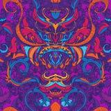 Blumenpaisley-nahtloses Muster Stockfoto