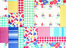 BlumenPatchworkhintergrund Stockbilder