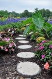 Blumenpfad lizenzfreie stockfotos