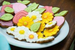 Blumenplätzchen Lizenzfreie Stockfotos