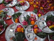 Blumenplatte stockfotos