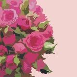 Blumenpostkarte Stockfoto