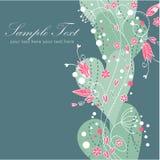 Blumenpostkarte der eleganten Valentinsgrußliebe Lizenzfreie Stockfotos