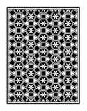 Blumenpunkt-Dreieckrahmen Mosaic Le Domus Romane Stockbild