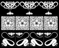 Blumenränder. Stockfoto