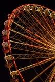 Blumenrad. Night shot of a amusement park royalty free stock image