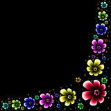 Blumenrahmen Lizenzfreie Stockbilder