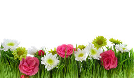 Blumenrahmen des grünen Grases Lizenzfreie Stockfotos