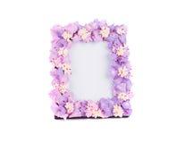 Blumenrahmen für Foto Stockfoto
