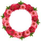 Blumenrahmen - Kranz Lizenzfreies Stockfoto