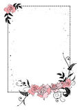 Blumenrahmen mit Kette lizenzfreie abbildung