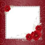 Blumenrahmen mit Perlen stock abbildung