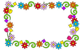 Blumenrahmen von hellen Farben Lizenzfreies Stockbild
