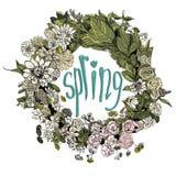 Blumenrahmenschleier lizenzfreie abbildung