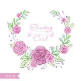 Blumenrahmenvektorillustration Stockbild