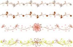 Blumenrand Stockbild