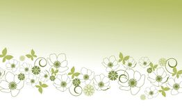 Blumenrand Stockfoto
