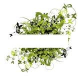 Blumenrand für Text Lizenzfreie Stockfotos
