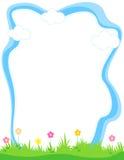 Blumenrand - Frühling und Sommer Stockbild