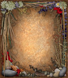 Blumenrand-Hintergrund Lizenzfreie Stockbilder