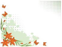 Blumenrandauslegung Lizenzfreies Stockbild