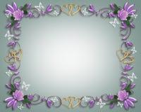 Blumenrandrosen und -basisrecheneinheiten Stockbilder