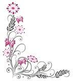 Blumenranke, Blumen, rosa Stockfotografie
