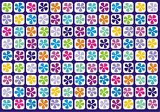 Blumenrasterfeld Lizenzfreie Stockbilder