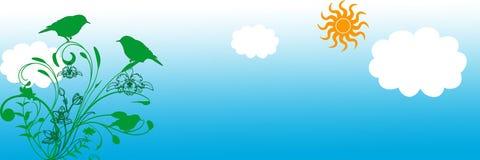 Blumenrollehintergrund/Web-Vorsatz Stockfoto