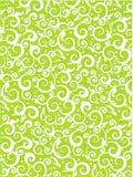 Blumenrollemuster-Grünhintergrund Stockfotografie